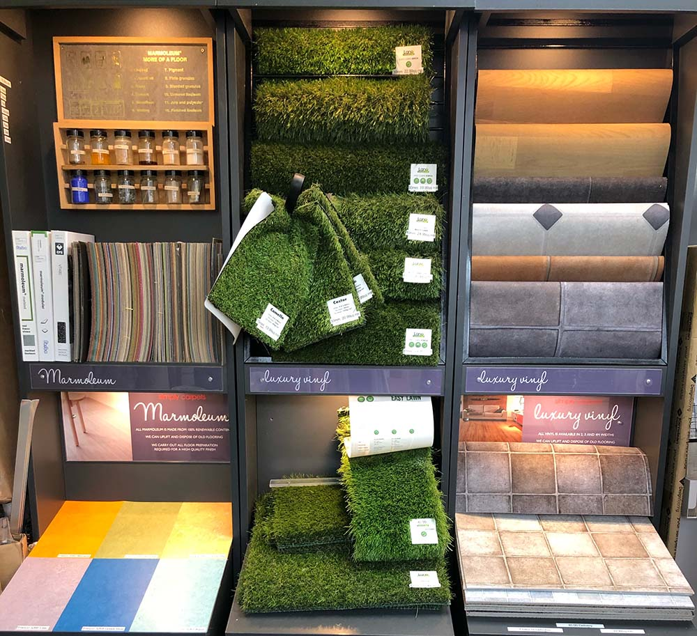 tile selection in store